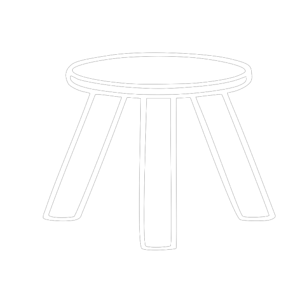 Three Legged Stool Outline PNG Clip art