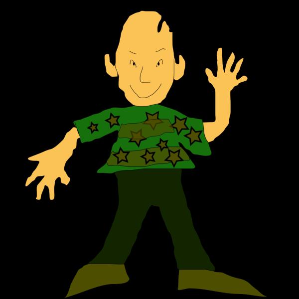Standing Cartoon Person PNG Clip art