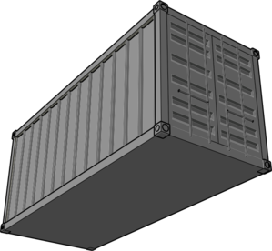 Shipping Container PNG Clip art