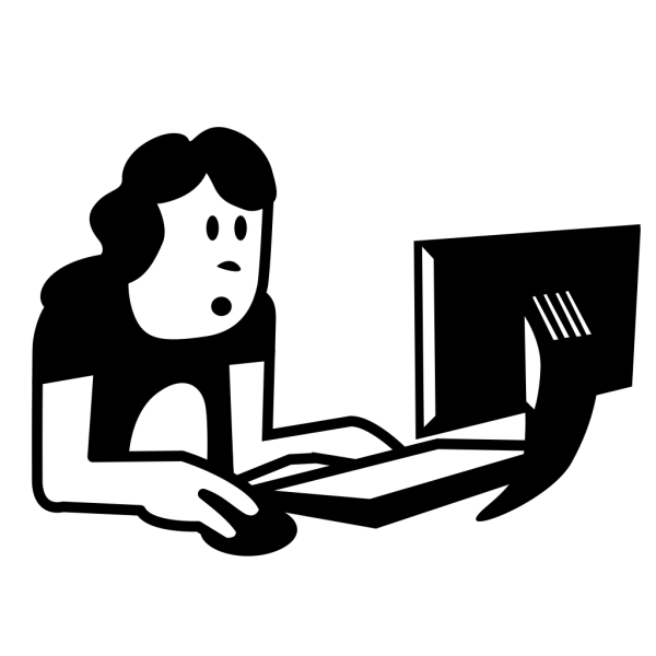 Student Using Laptop PNG Clip art