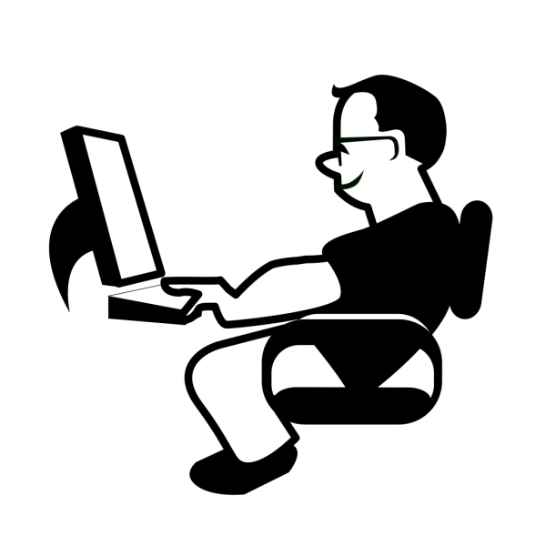 Man Using Computer PNG Clip art