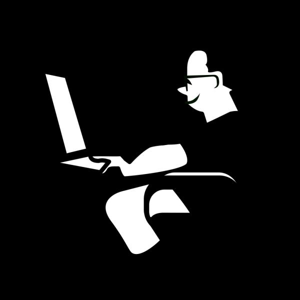 Man Using Computer PNG Clip art