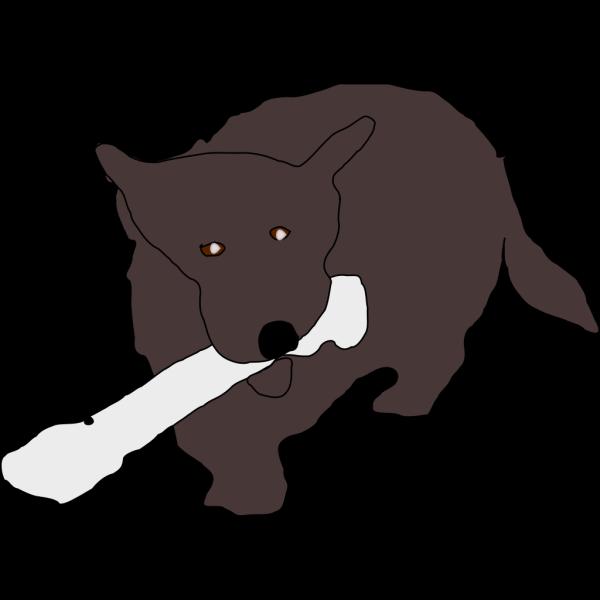 Dog Eating Bone PNG Clip art