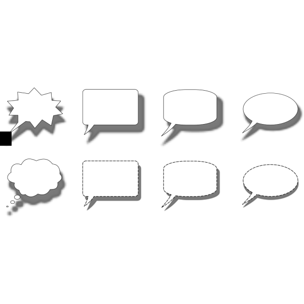 Collection Of Speech Bubble PNG icons