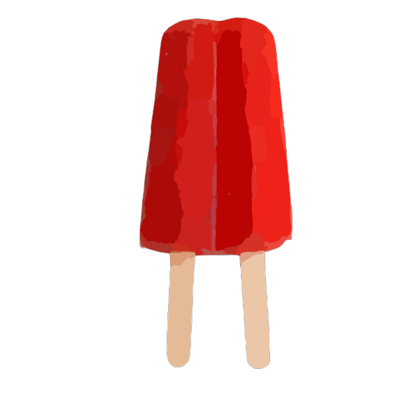 Red Double Popsicle PNG Clip art