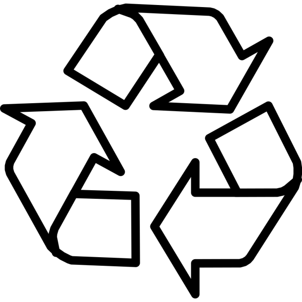 Recycling Symbol Outline PNG Clip art