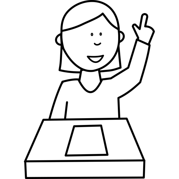 Student Asking A Question PNG Clip art