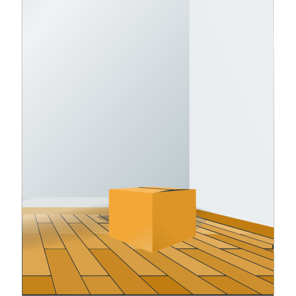Box Over Wood Floor PNG Clip art