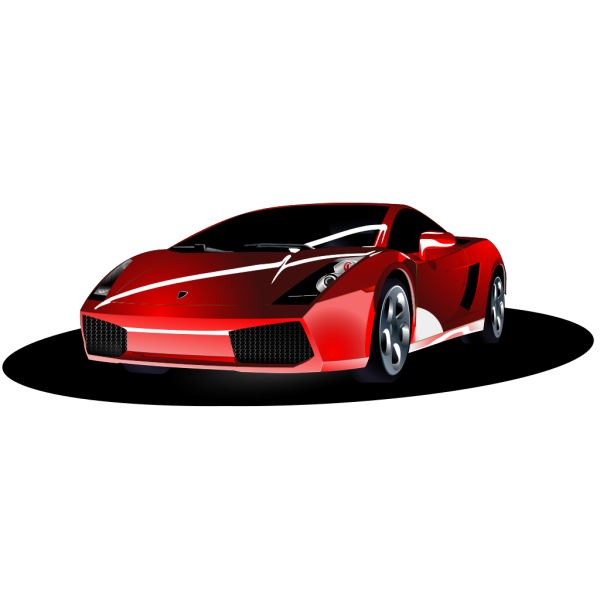 Red Sports Car Top View PNG Clip art