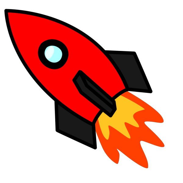 Launching Red Rocket PNG Clip art