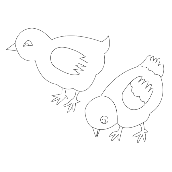 Chickens Vector Coloring PNG images