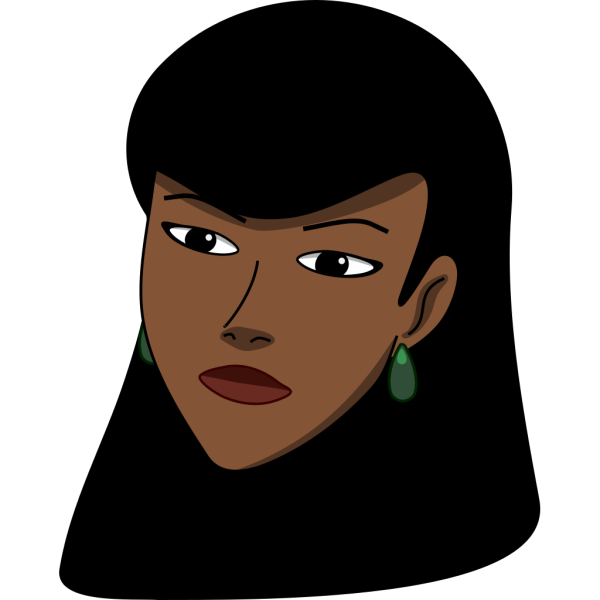 Woman Head (dark) PNG Clip art