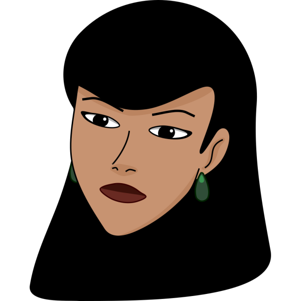 Woman Head (light) PNG Clip art