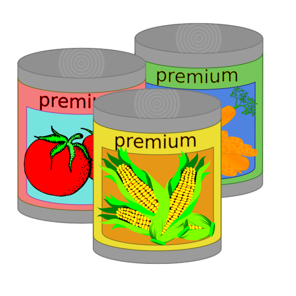 Canned Goods PNG Clip art