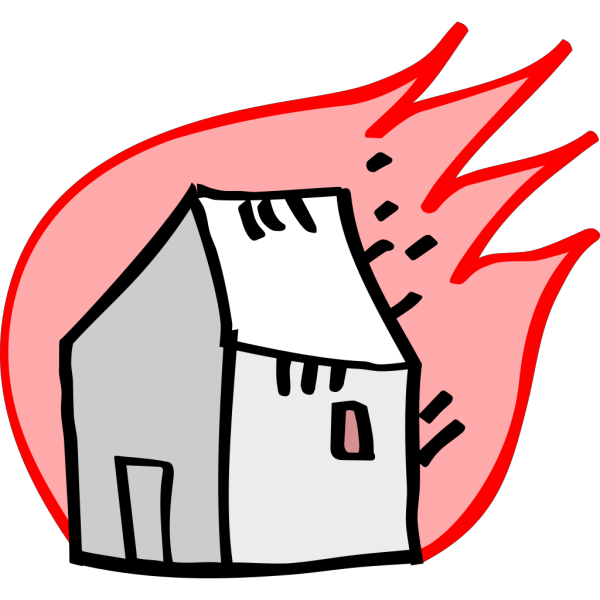 Burning House PNG Clip art