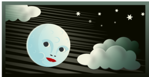 Cartoon Moon Clouds PNG Clip art