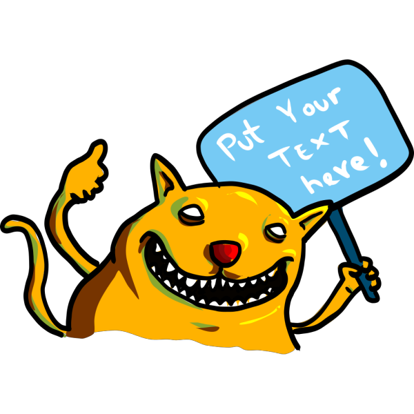 Monster With Sign PNG Clip art