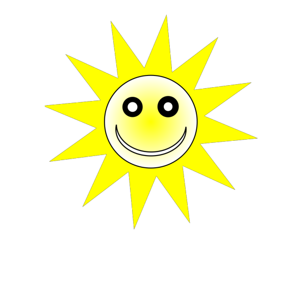 Smiley Happy Yellow Sun PNG Clip art