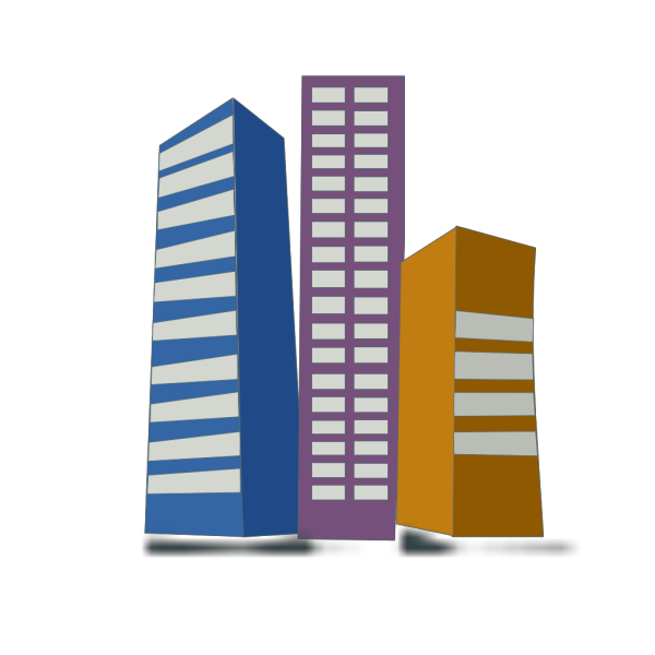Real Estate High Rise Buildings PNG Clip art