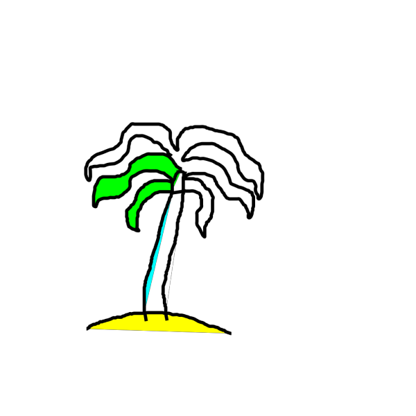 Palm Tree On Island PNG Clip art