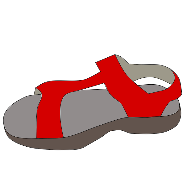 Red Sandal PNG images