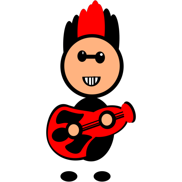 Rock Star With Guitar PNG Clip art
