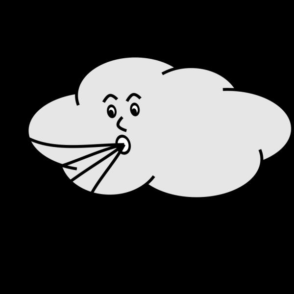 Wind Blowing Cloud PNG Clip art