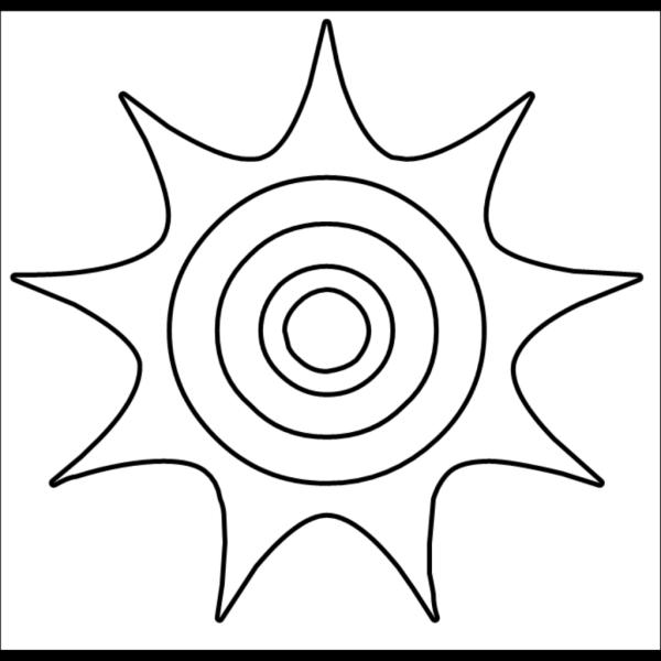 Sun Outline PNG Clip art