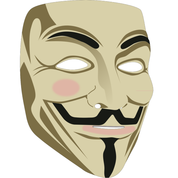 Guy Fawkes Mask PNG clipart
