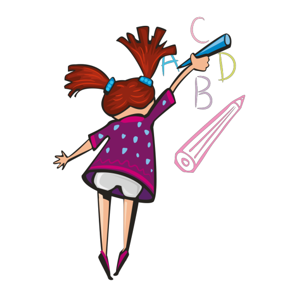 Cartoon Girl Profile PNG Clip art