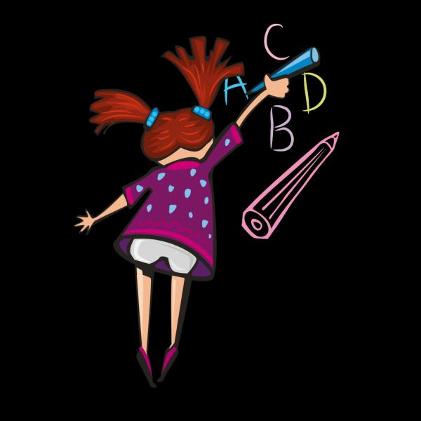Cartoon Girl Profile PNG Clip art