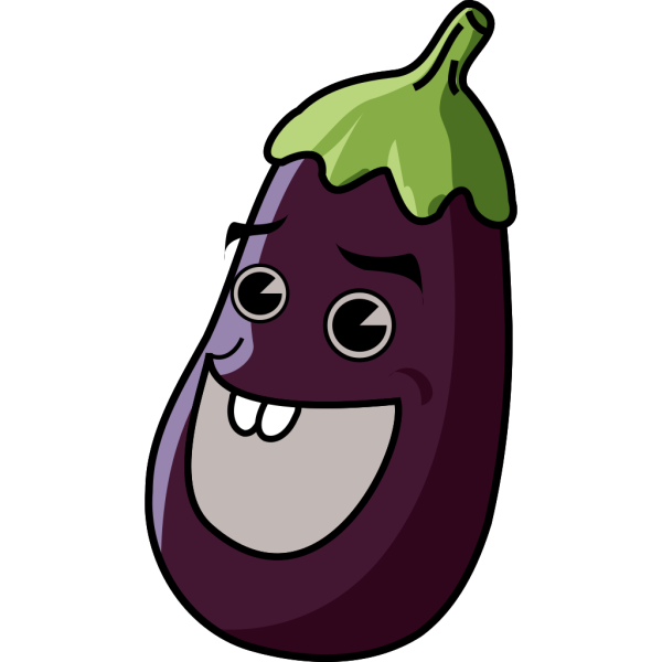 Cartoon Eggplant PNG images