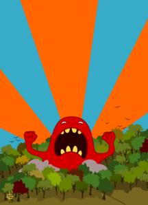Monster Screaming PNG Clip art