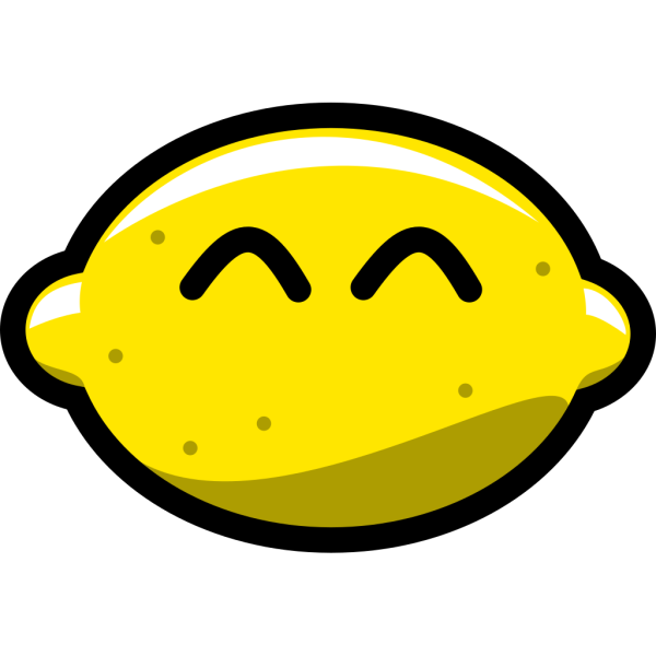 Happy Lemon PNG Clip art
