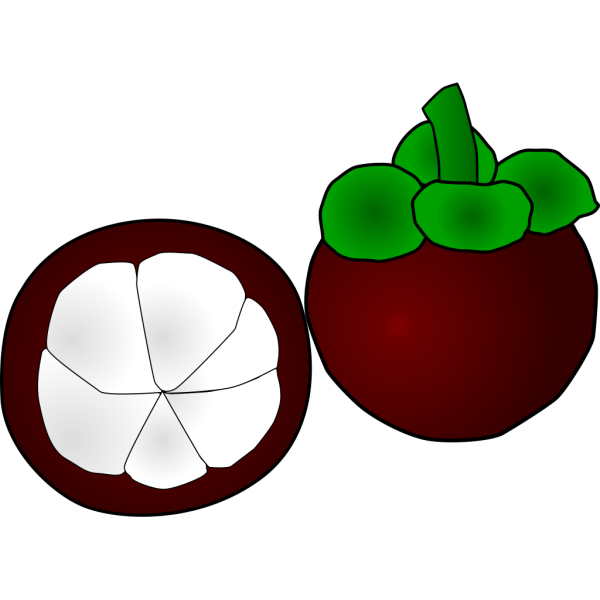 Mangosteen Thai Fruit PNG Clip art