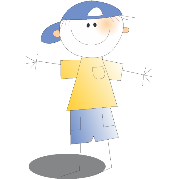 Kid Wearing Cap PNG Clip art