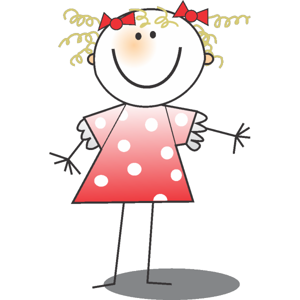 Girl Wearing Polka Dot Dress PNG Clip art