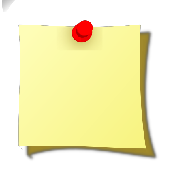 Note Pin PNG Clip art