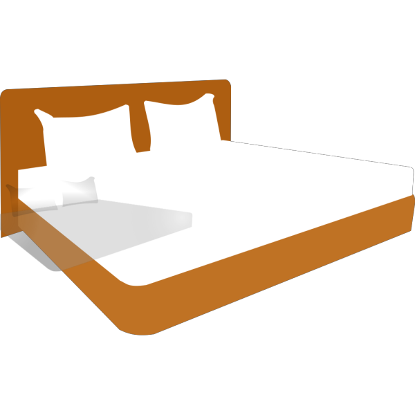 King Size Bed PNG Clip art