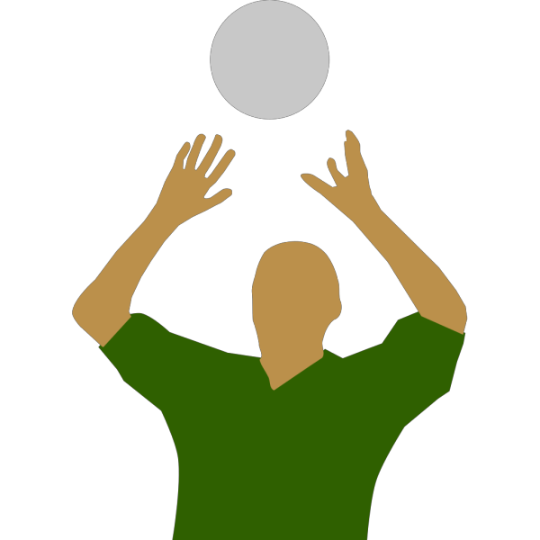 Volleyball Player Silhouette PNG Clip art