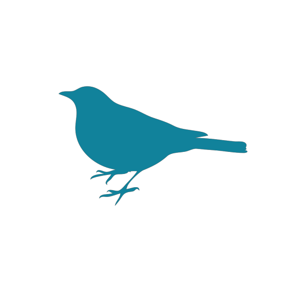 Teal Bird Silhouette PNG images