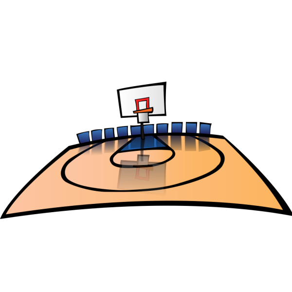 Cartoon Basketball Court PNG Clip art