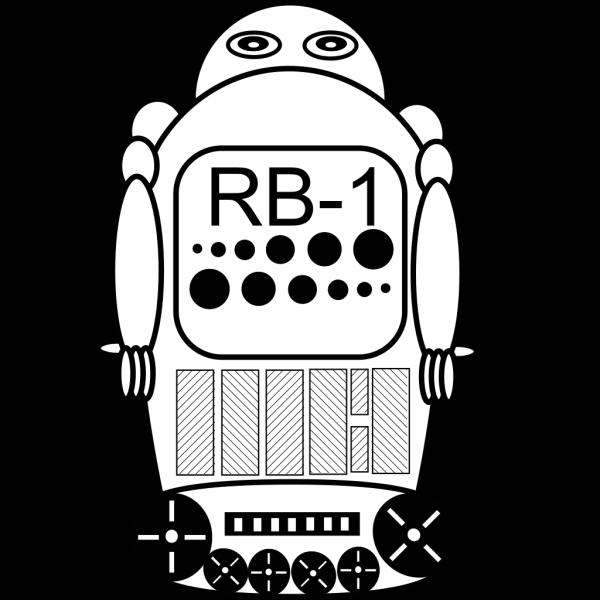 Robot Outline PNG Clip art