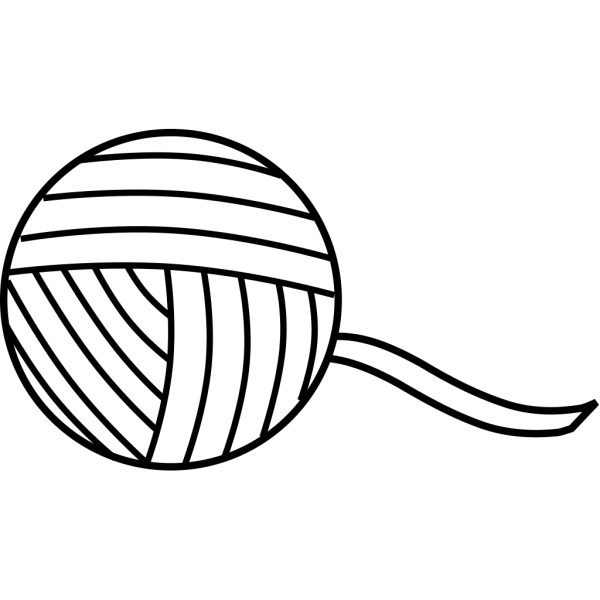 Ball Of Yarn Outline PNG Clip art