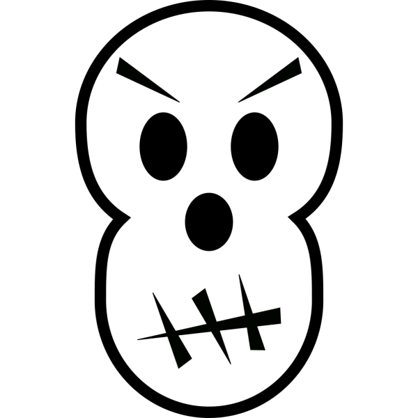 Angry Skull PNG Clip art