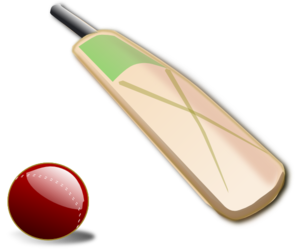 Cricket Bat And Ball PNG Clip art