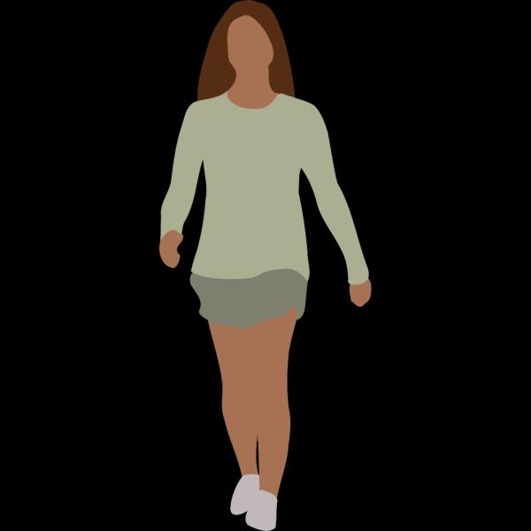 Walking Woman PNG Clip art
