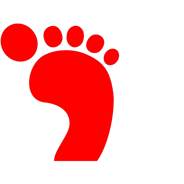 Red Footprint PNG Clip art