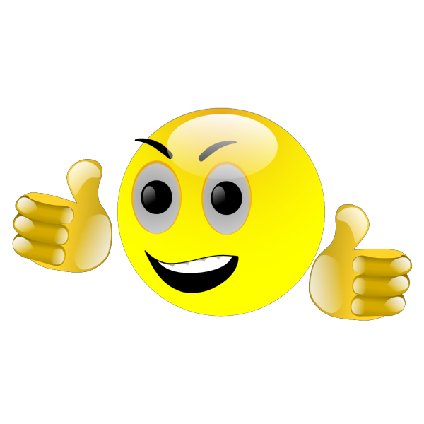 Smiley Thumbs Up PNG Clip art