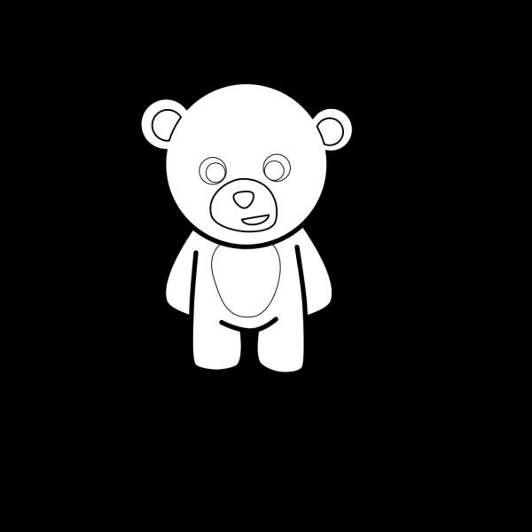 Teddy Bear Outline PNG Clip art